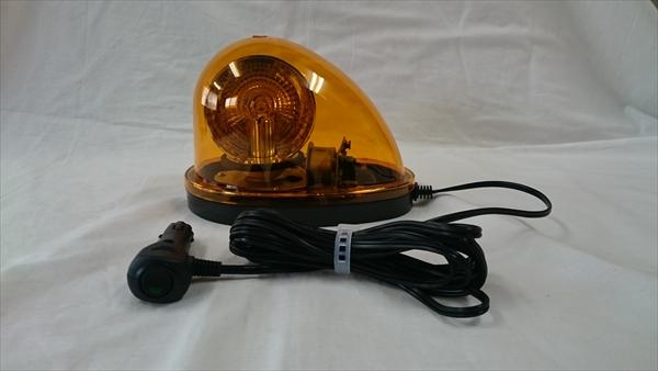 車載式ハイパワーLED回転灯 赤 DC12V&24V兼用タイプ