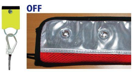 安全帯用LEDランプ GENTI MITEL