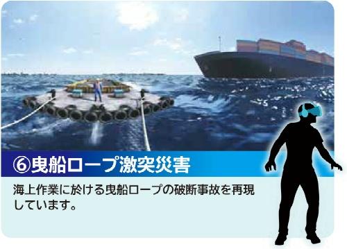 曳船ロープ激突災害